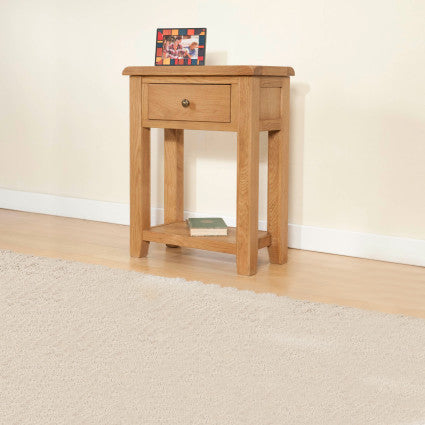 Shrewsbury Oak Small Console with 1 Drawer