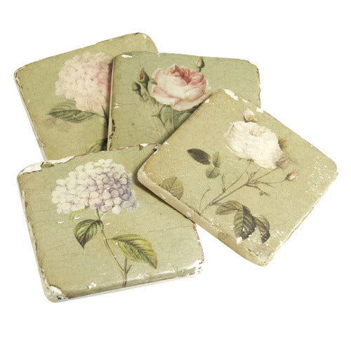 Set of 4 Flower Coasters