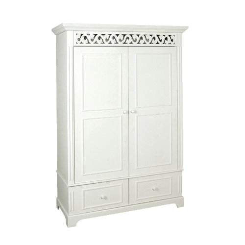 Belgravia Double Wardrobe in White