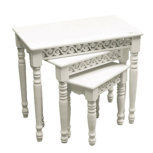 Nest of 3 Tables in White