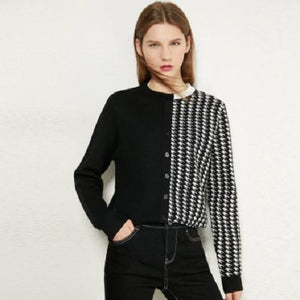 Half Houndstooth Sweater