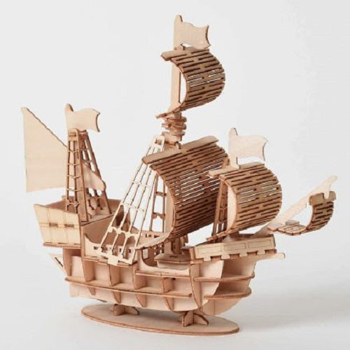 Wooden Puzzle Ship