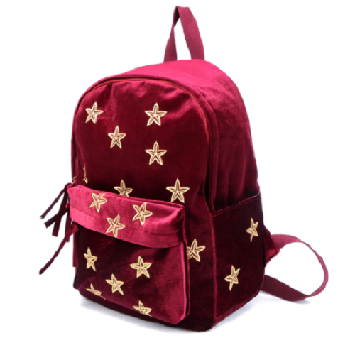 Velour Star Backpack