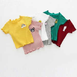 Ribbed Applique Tee