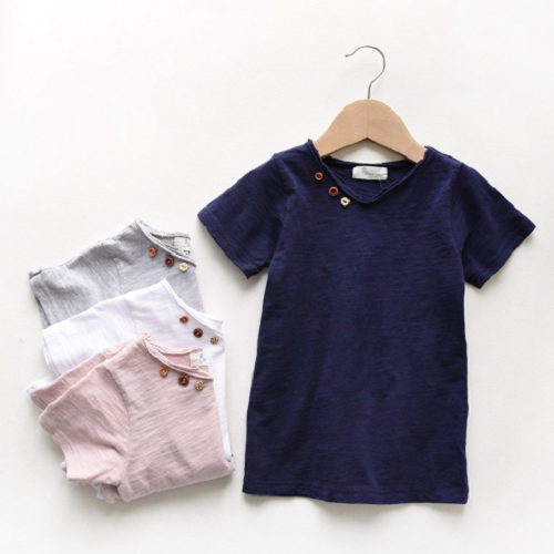 Button Neck Tee