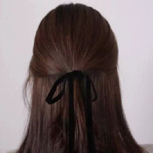 Velour Ribbon Bow