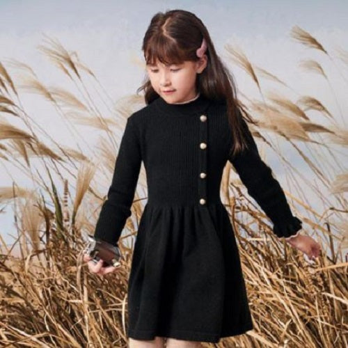 Knit Button Dress