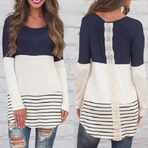 Lace Stripe Tee