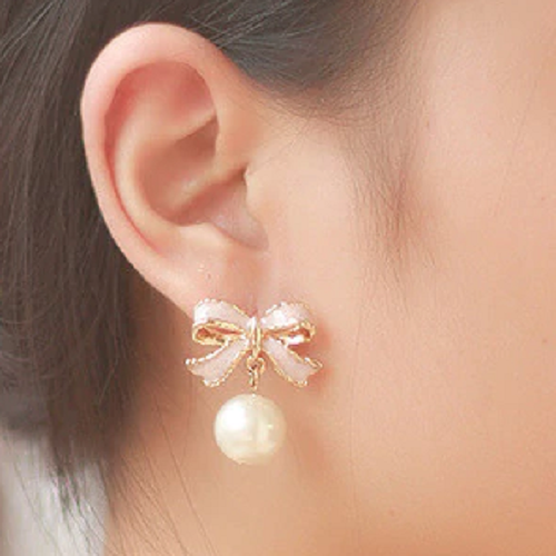 Bow Clip on Earrings
