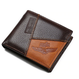 Leather Patchwork Wallet