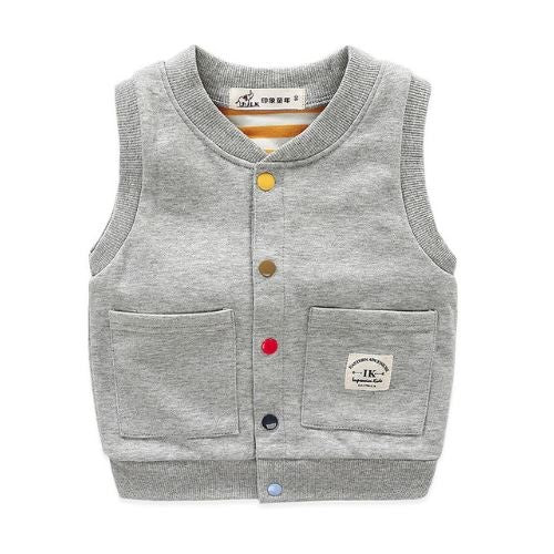 Color Button Vest