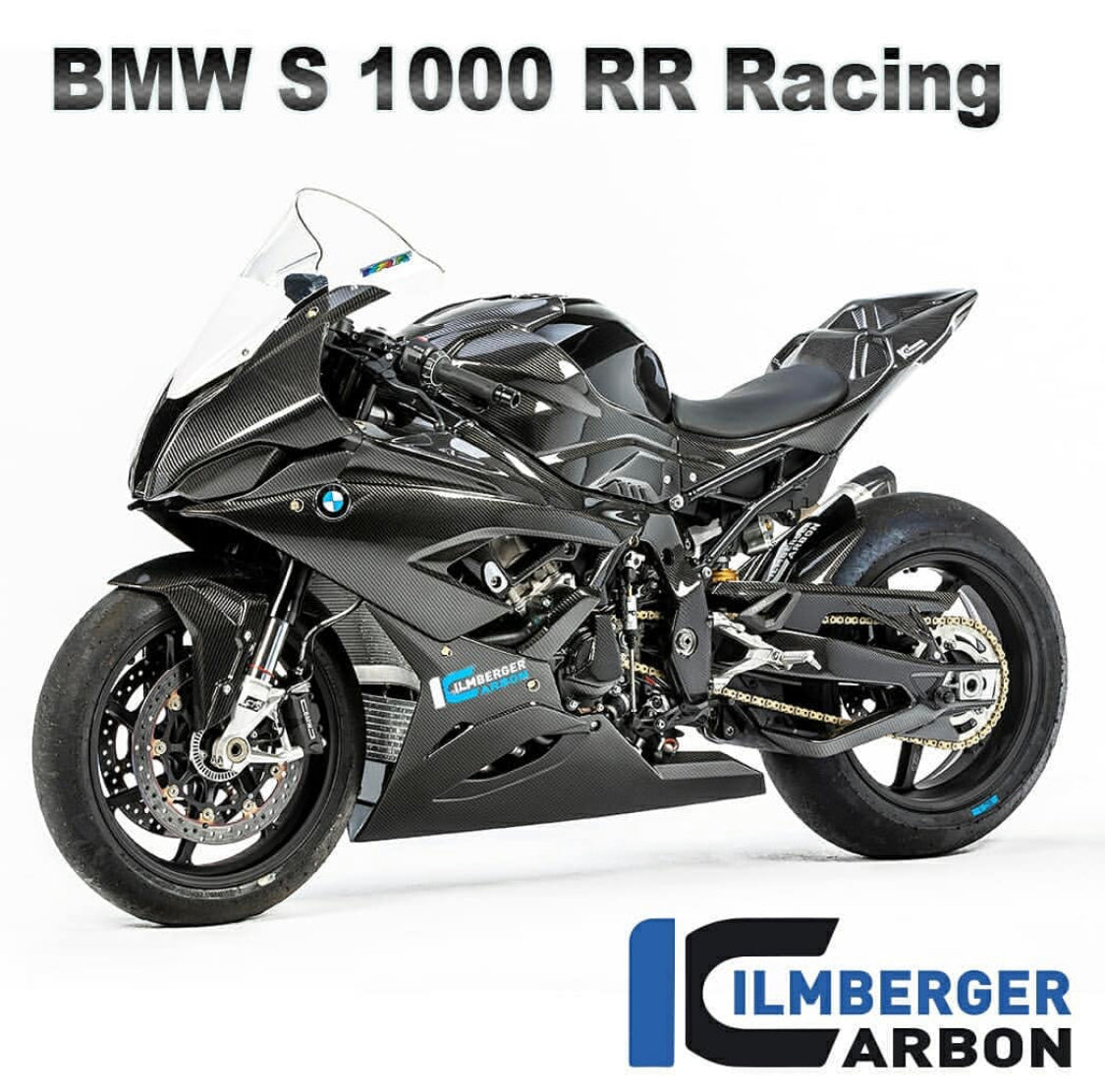 BMW s1000rr Racing Carbon fibre race bike parts from ilmberger carbonparts