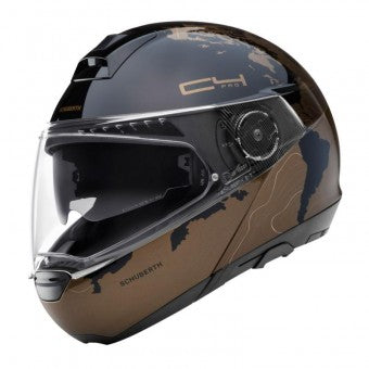 schuberth c4 pro magnitudo black and copper modular motorcycle helmet