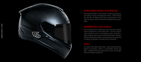 6D Helmets Ats-1 features and benefits