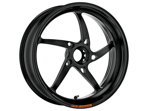 oz racing piega techno black motorcycle wheels rear