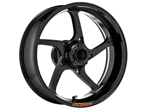 oz racing piega gloss black rear motorcycle wheel
