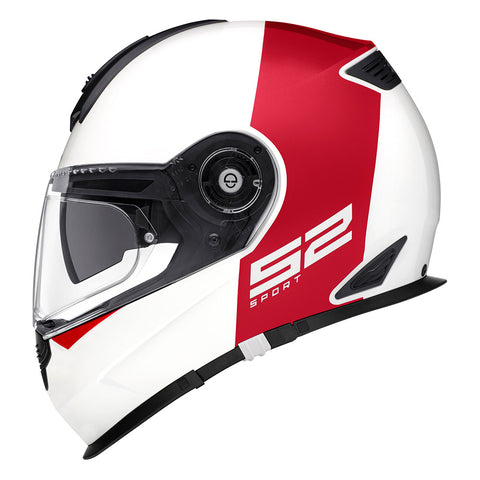 Schuberth s2 redux white and red