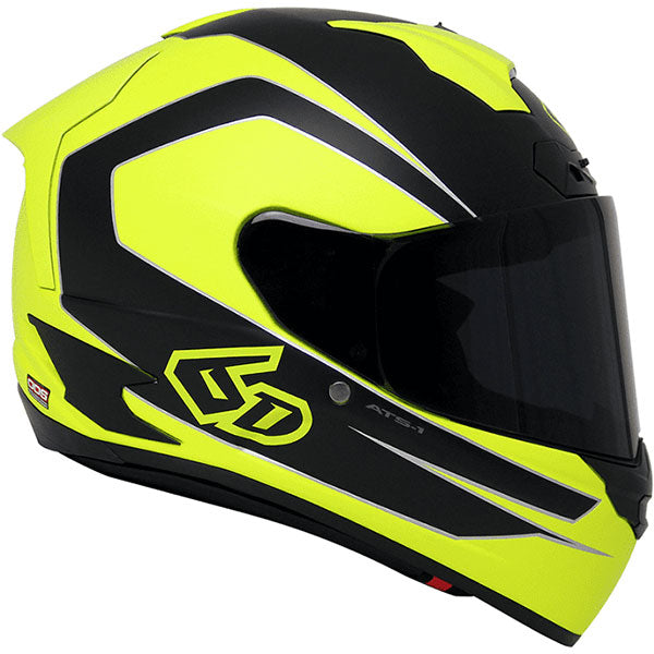 6D ATS-1 Black & Yellow, Helmet, 6D Helmets - Averys Motorcycles