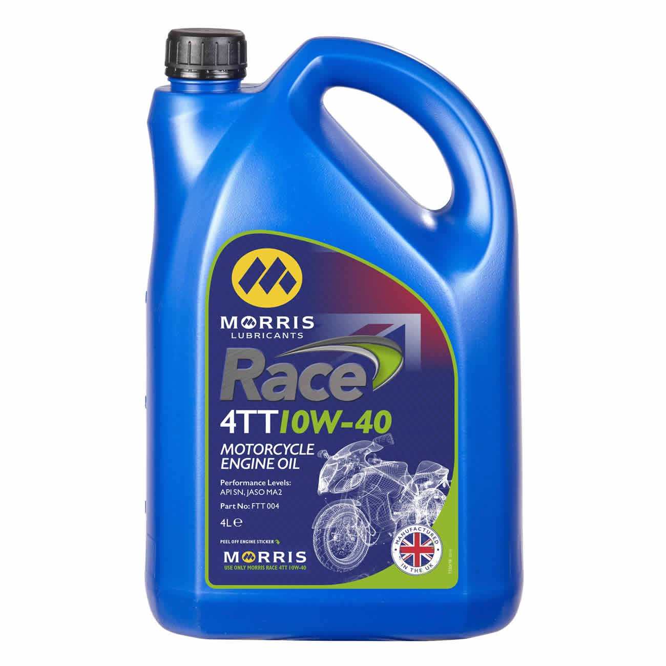 Race 4TT 10W-40, Engine Oil, Morris Lubricants - Averys Motorcycles
