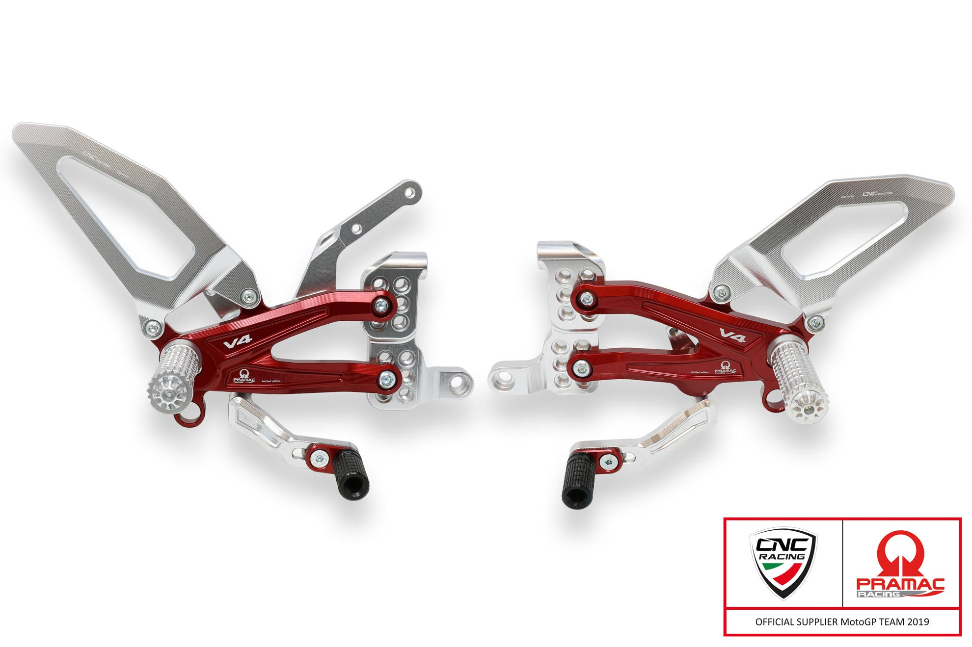 CNC Racing Pramac Adjustable Easy Rearsets - Panigale V4/S, Rearsets, CNC Racing - Averys Motorcycles