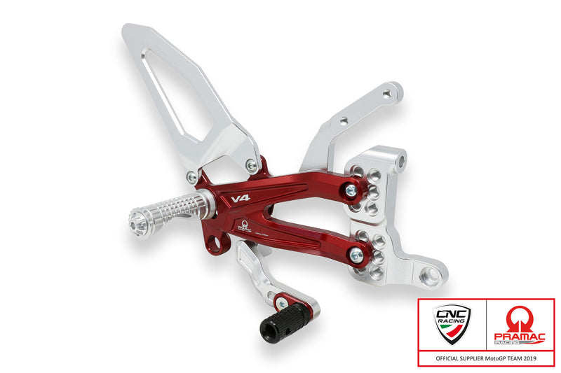 Panigale V4 - Adjustable Easy Rearsets, Rearsets, CNC Racing - Averys Motorcycles