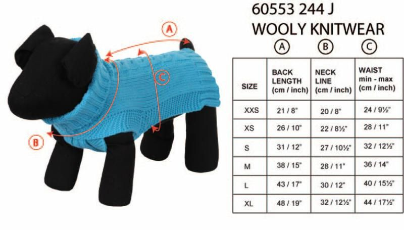 Rukka Coat - Wooly Knitwear, Pet Clothing, Rukka Pets - Averys Motorcycles