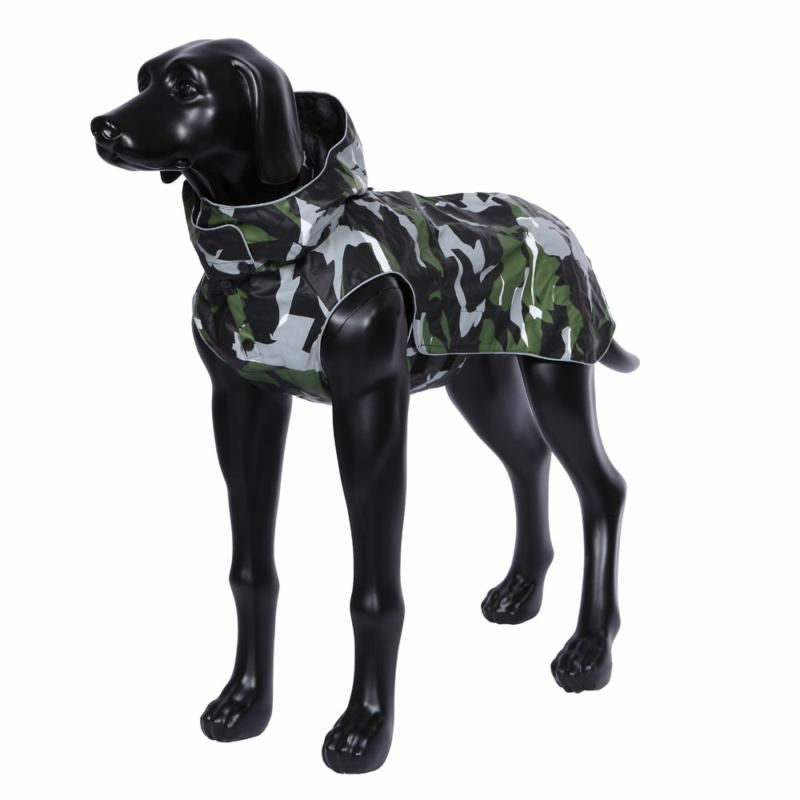 Rukka Coat - Stream Camo Raincoat, Pet Clothing, Rukka Pets - Averys Motorcycles