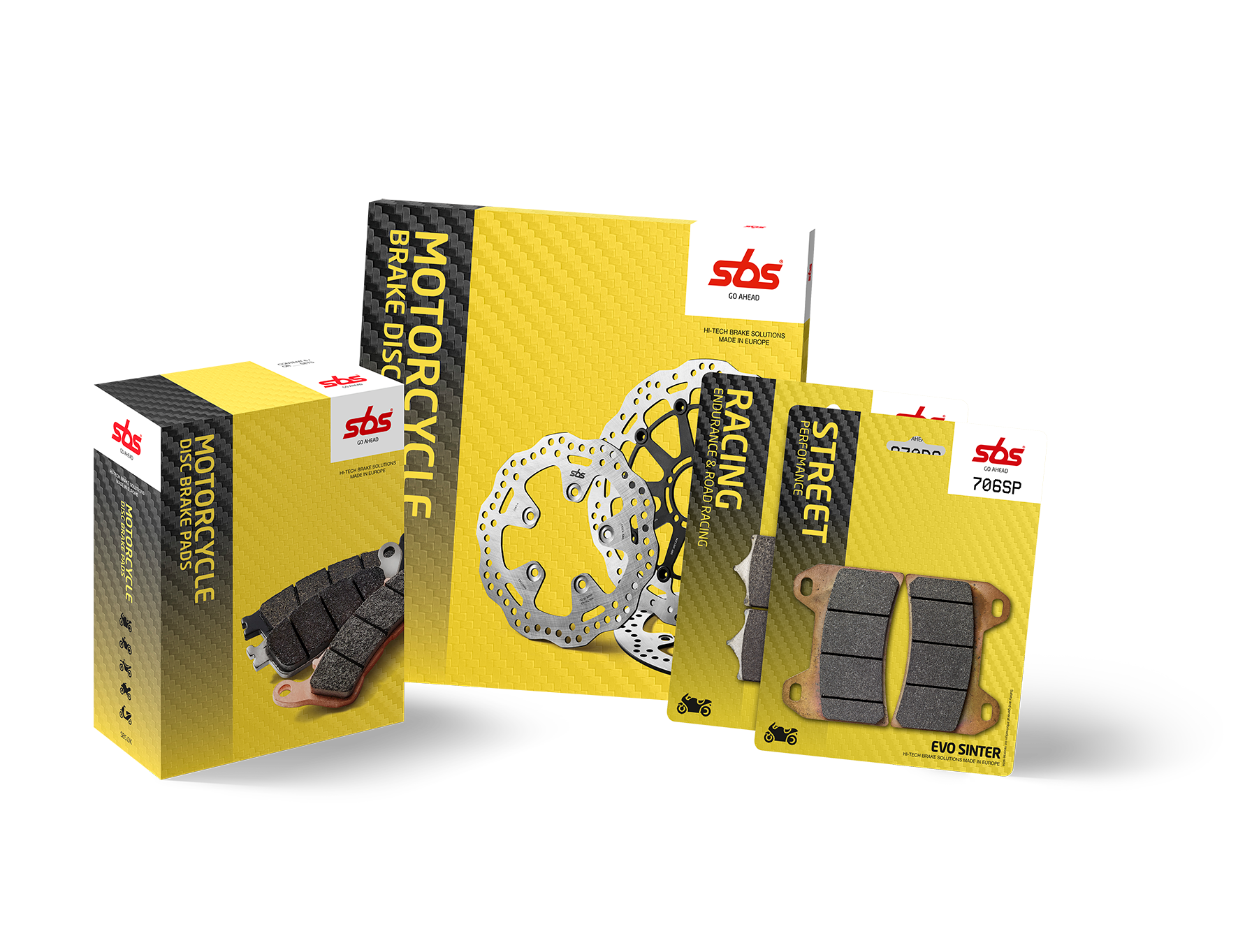 Honda - Discs & Pads Kit, Brake Disc, SBS - Averys Motorcycles