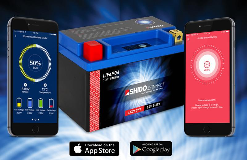 Shido Connect Smart Battery - Averys Motorcycles
