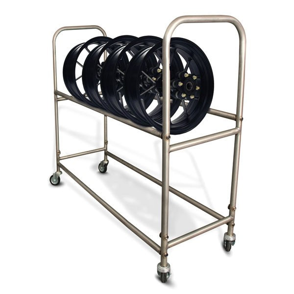 TITANIUM Tyres & Rims Carrier, Wheel Rack, Valtermoto Components - Averys Motorcycles