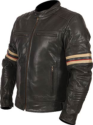 Weise Leather Jacket - Detroit, Leather Jacket, Weise - Averys Motorcycles