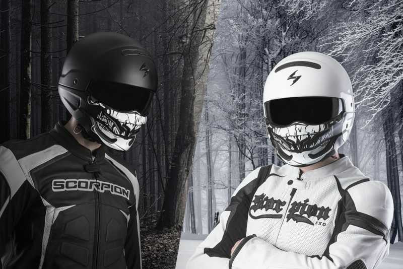 Skull Mask, Helmet, Scorpion Exo - Averys Motorcycles
