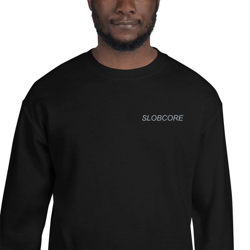 Slobcore Embroidered Sweatshirt