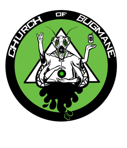 Church of Bug Mane BUG LORD Sticker