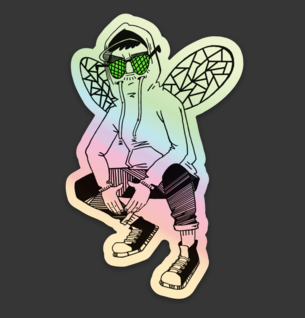 Bug Mane Sticker HOLOGRAPHIC!