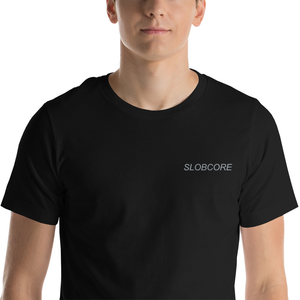 Slobcore Embroidered Black Tee