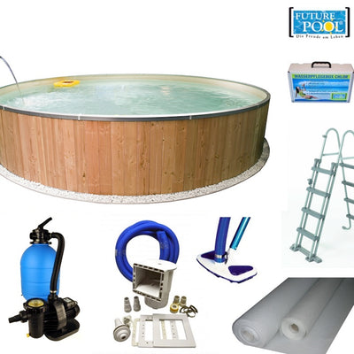 Rundbecken Pool Set, Fun Wood | 3 Größen