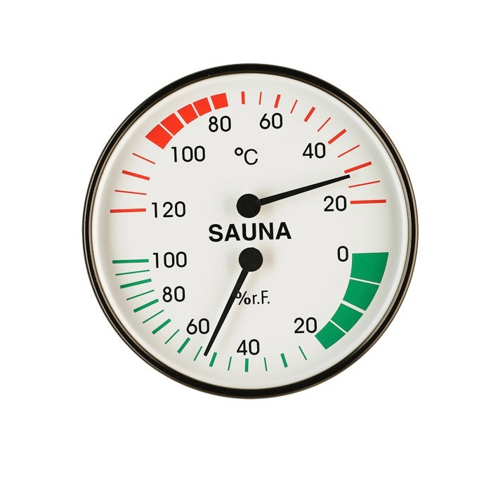"Sauna Thermo-Hygrometer Basic ""black"""
