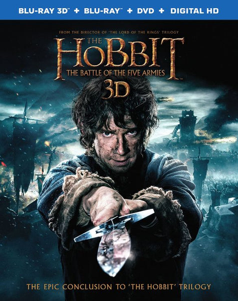 The Hobbit: The Battle of the Five Armies 3D 3-d Bluray Disc Movie Cheap Blue Ray Blu-ray