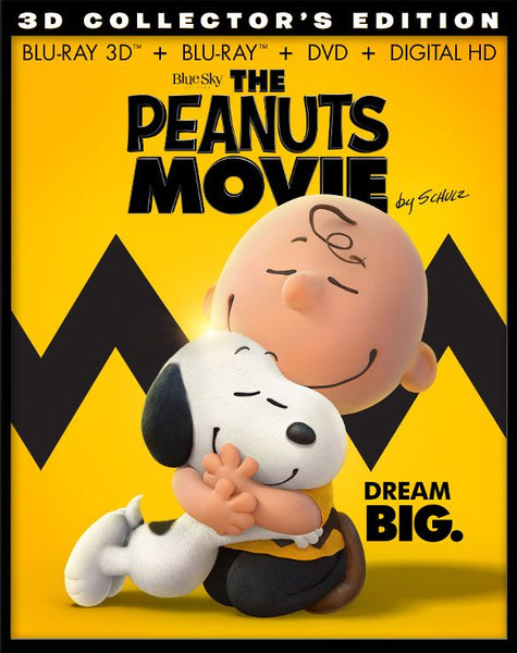 The Peanuts Movie 3D 3-d Bluray Disc Movie Cheap Blue Ray Blu-ray