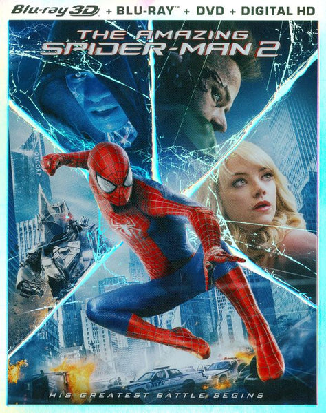 The Amazing Spider-Man 2 3D 3-d Bluray Disc Movie Cheap Blue Ray Blu-ray