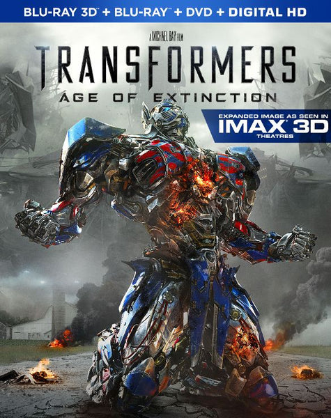 Transformers: Age of Extinction 3D 3-d Bluray Disc Movie Cheap Blue Ray Blu-ray