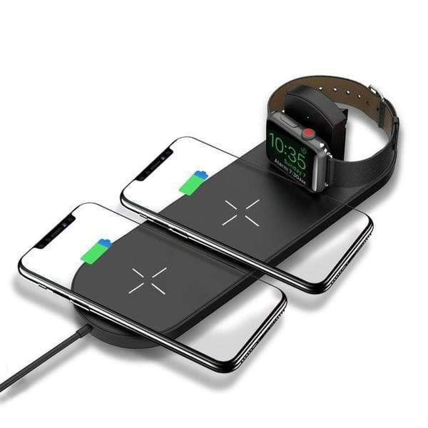 10W 3-In-1 Fast-Charging Wireless Charging Pad