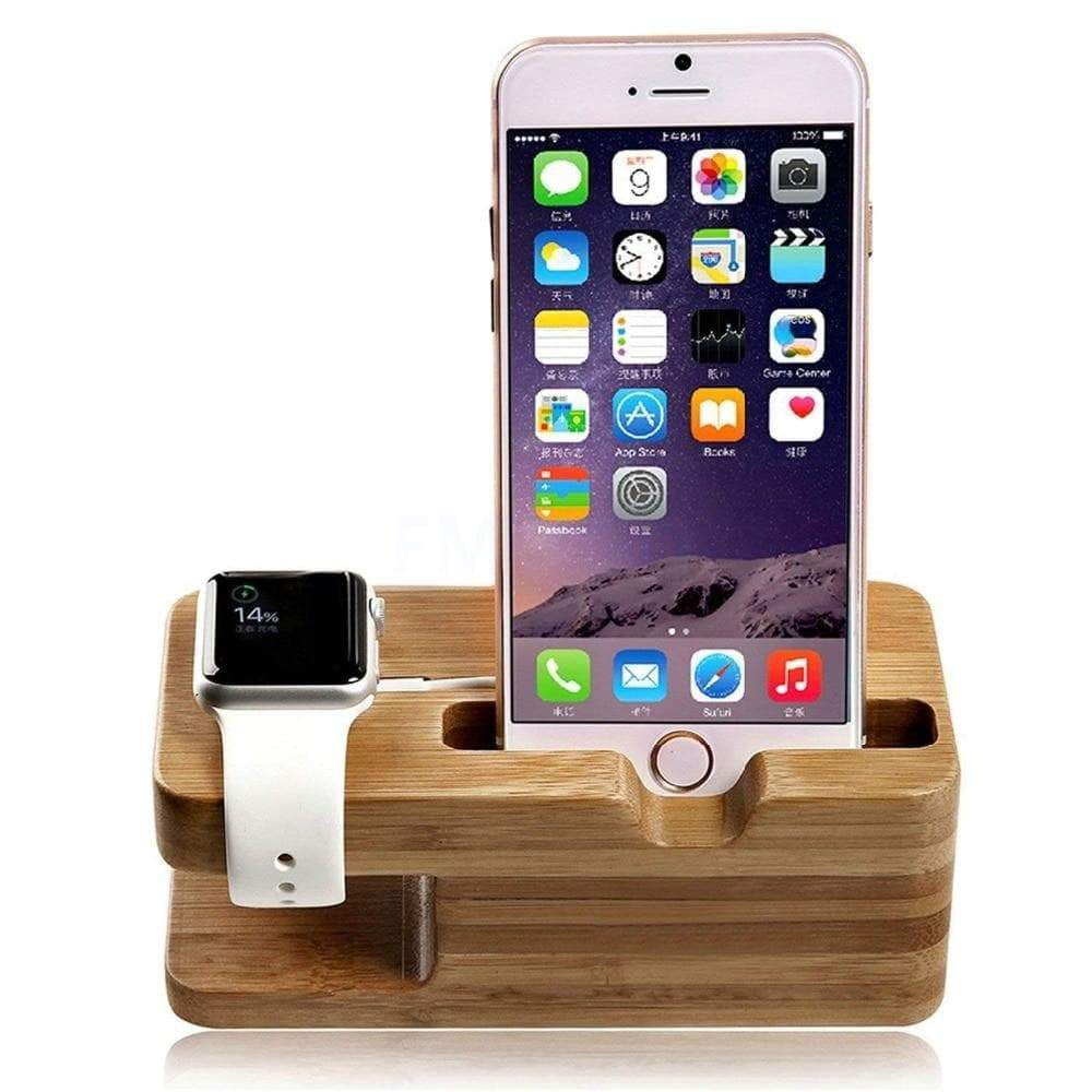 2-in-1 Wooden Charging Station