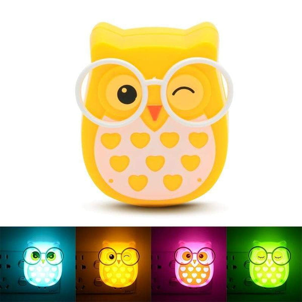 Mini Owl LED Wall-Plug Night Light