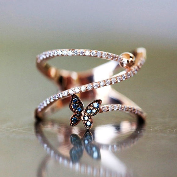 Romantic Rose Gold Adjustable Midi Ring