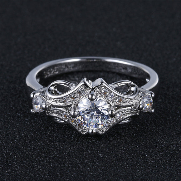 Silver Plated Vintage Fashion Ring