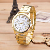 Classic Steel Roman Numeral Quartz Watch