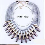 Acrylic Bold Statement Necklace - 3 Colors