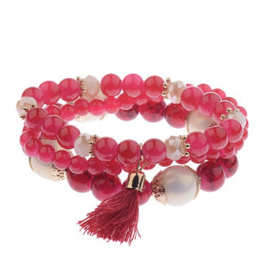 3Pcs/Lot Dream Charm Beaded Bracelet - 15 Colors